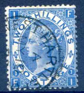 SG119 2/- Deep Blue Fine Used Part CDS