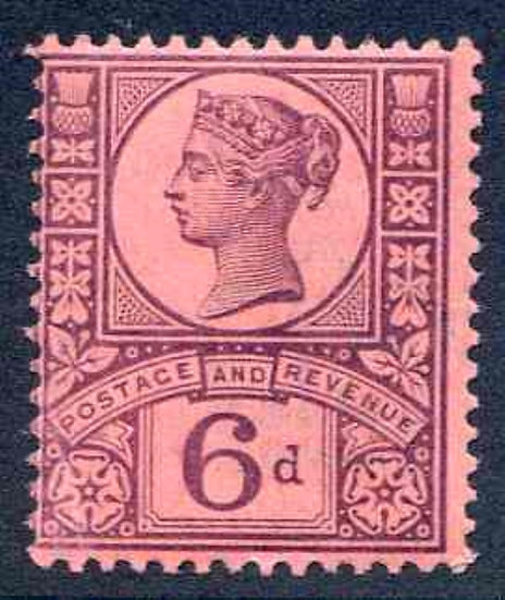 SG208 6d Purple/Rose Red Unmounted Mint