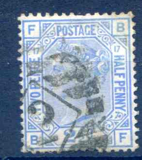SG142 2 1/2d Blue Plate 17 Good Used