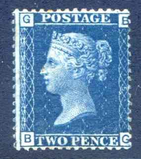 2d Blue SG47 Plate 15 Mounted Mint
