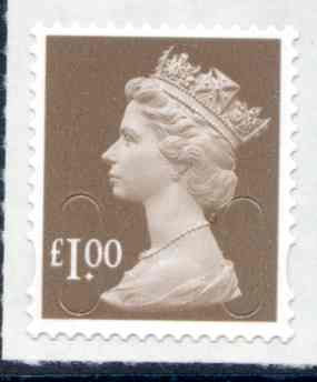 U2934 £1 Bistre Brown M18L Unmounted Mint