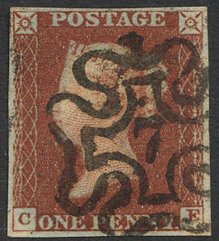 Penny Red Imperf (CE) Fine Used 7 in MX