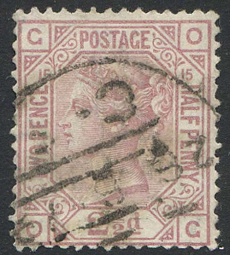 SG141 2 1/2d Rosy Mauve Plate 15 Fine Used