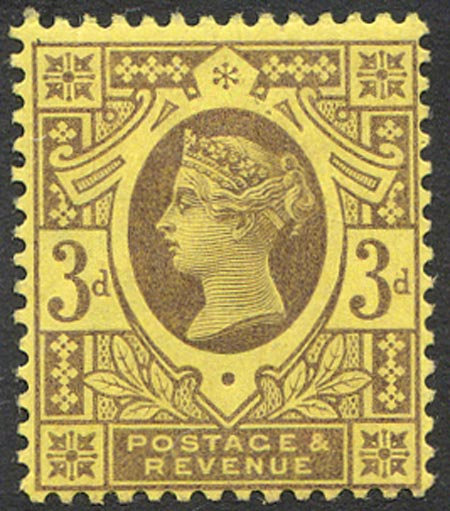 SG202 3d Purple/Yellow Lightly Mounted Mint