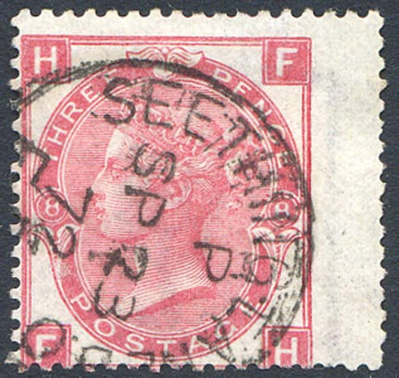 SG103 Plate 8 3d Rose Very Fine Used Seething Lane CDS Dated SP 23 72