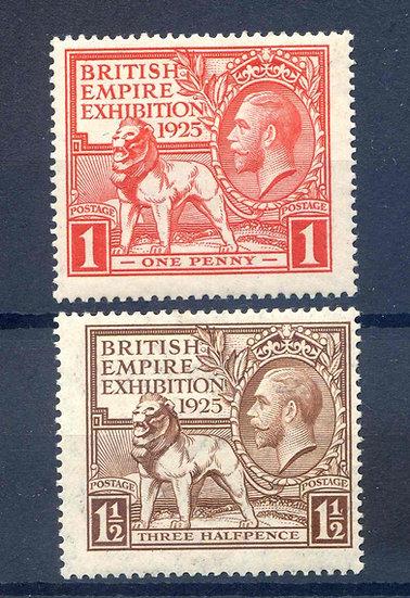 SG432/3 1925 British Empire Exhibition Unmounted Mint