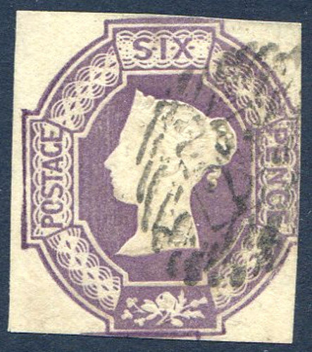 SG59 6d Dull Lilac Embossed Fine Used