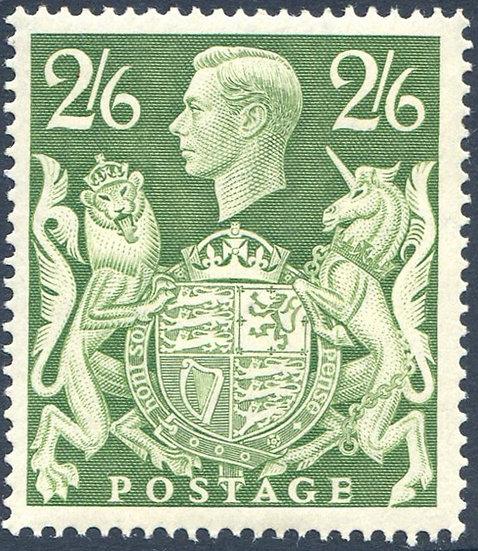 SG476b 2/6 Green Unmounted Mint