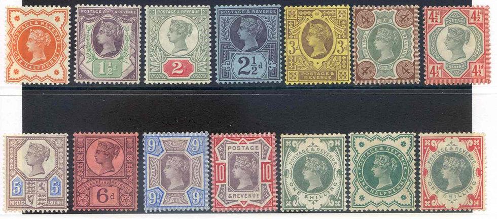 SG197/214 Jubilee Basic set (14) Mounted Mint