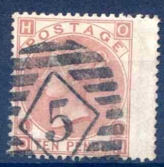 SG113 10d Pale Red Brown Fine Used RH Wing Margin