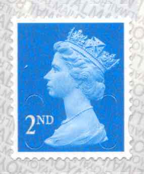 U3010 2nd Class Bright Blue M18L Unmounted Mint