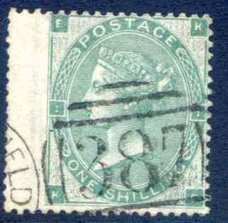 SG89 1/- Deep Green Fine Used LH Wing Margin