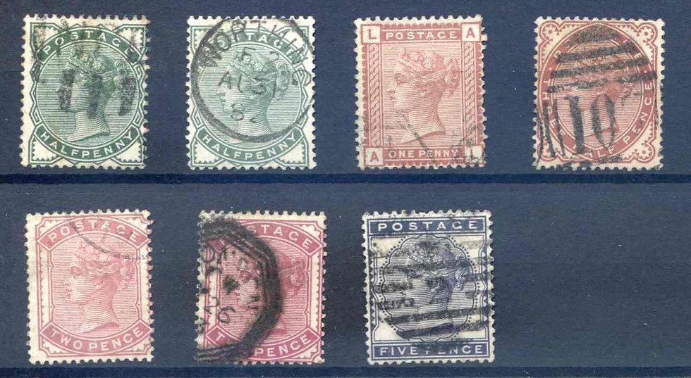 SG164/169 1880 set Fine Used inc Shades