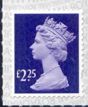 U2957 £2.25 Deep Violet M18L Unmounted Mint