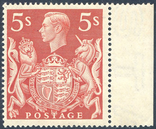 SG477 5/- Red Lightly Mounted Mint