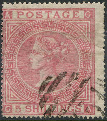 SG127 Plate 1 /- Pale Rose Fine Used