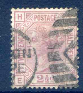SG141 2 1/2d Rosy Mauve Plate 17 Fine Used