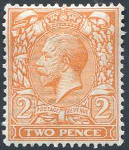 Spec N19/1 2d Orange Yellow Mounted Mint