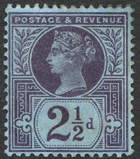 SG201 2 1/2d Purple/Blue Mounted Mint