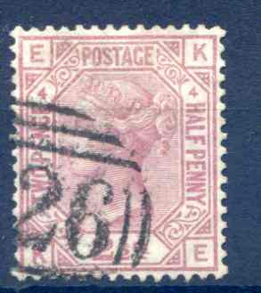 SG141 2 1/2d Rosy Mauve Plate 4 Fine Used