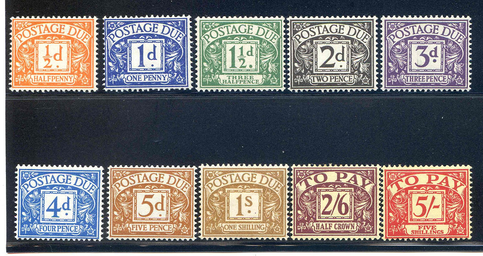 SGD46/53 1955/57 Postage Due Set Mounted Mint