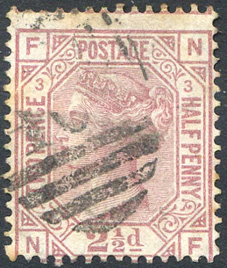 SG139 2 1/2d Rosy Mauve Plate 3 Good Used