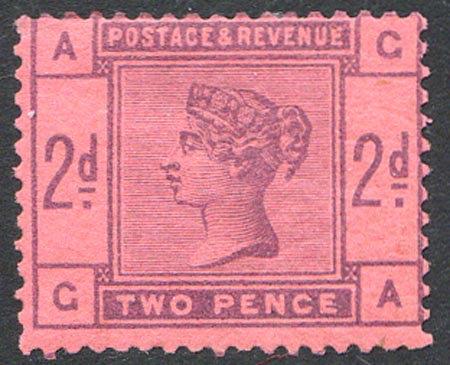 SG189 Var 2d Purple On Buff Colour Trial Mounted Mint