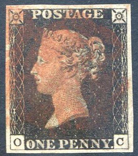 Penny Black (OC) Plate 3 Fine Used