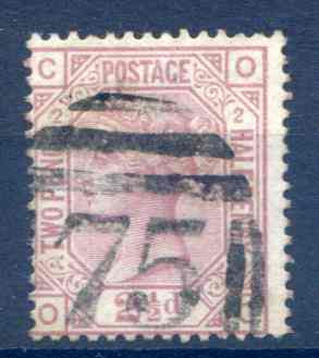 SG139 2 1/2d Rosy Mauve Plate 2 Fine Used