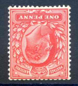SG272wi 1d Rose Red Unmounted mint Watermark Inverted