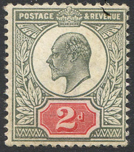 Spec M13/4 2d Deep Dull Green & Bright Carmine Unmounted Mint