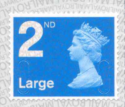 U3032 2nd Large Bright Blue M17L Unmounted Mint