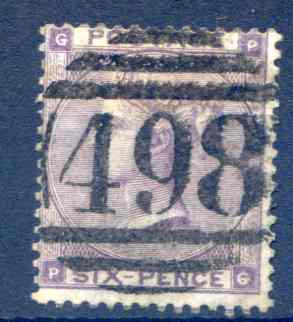 SG84 6d Lilac Good Used