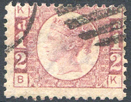 SG48 1/2d Rose Red Plate 10 Fine Used