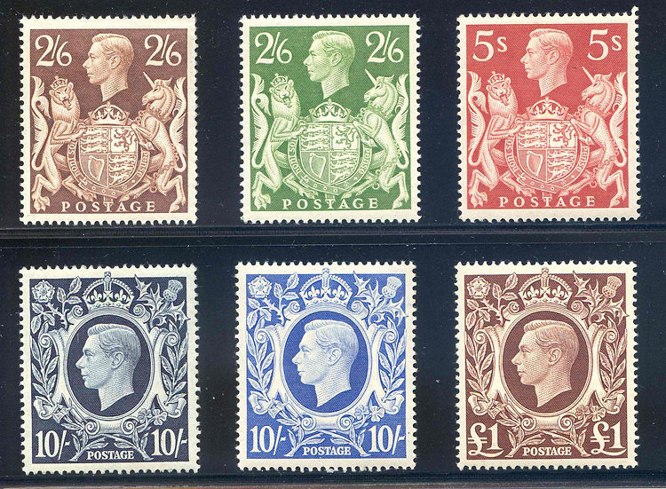 SG476/478c KGVI 1939 High Values Set Mounted Mint