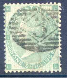 SG90 1/- Green Fine Used