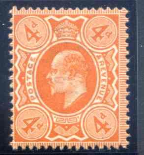 SG286 4d Very Deep Orange Unmounted Mint