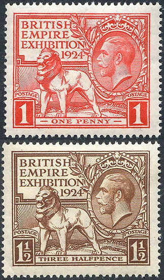 SG430/1 1924 British Empire Exhibition Set Unmounted Mint