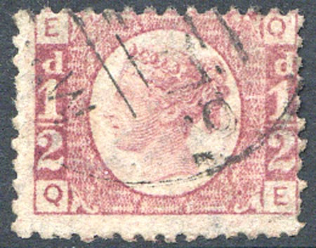 SG48 1/2d Rose Red Plate 12 Fine Used