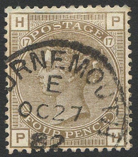 SG160 Plate 17 4d Grey Brown Fine Used Part CDS