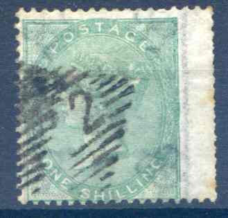 SG71 1/- Deep Green Fine Used RH Wing Margin