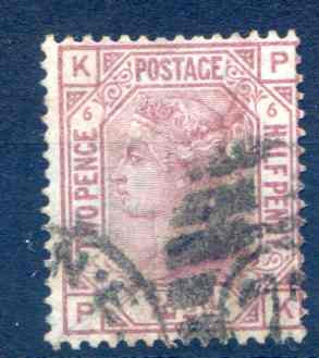 SG141 2 1/2d Rosy Mauve Plate 6 Fine Used