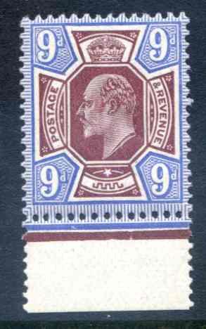 SG307 9d Dull Reddish Purple & Blue Unmounted Mint