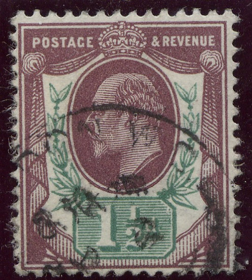 SG287 1 1/2d Reddish Purple & Bright Green Fine Used