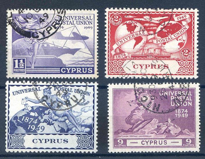 Cyprus 1949 UPU set SG168/171 Fine Used