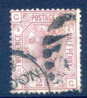SG141 2 1/2d Rosy Mauve Plate 8 Fine Used