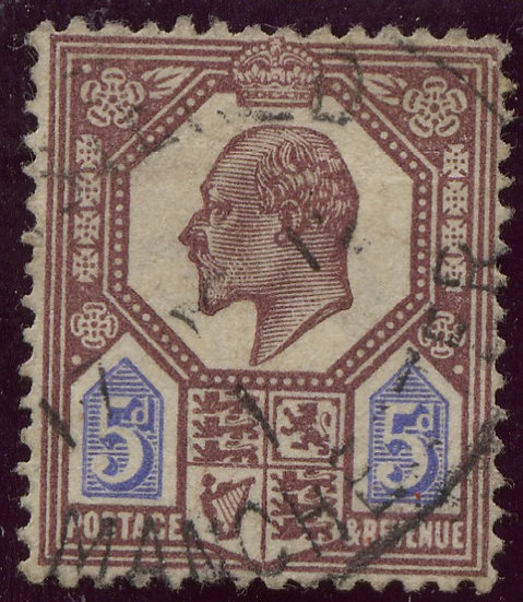 SG293 5d Dull Reddish Purple And Bright Blue Good Used