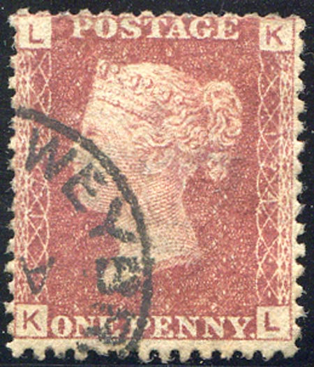 SG43 Plate 174 1d Red Fine Used Light CDS