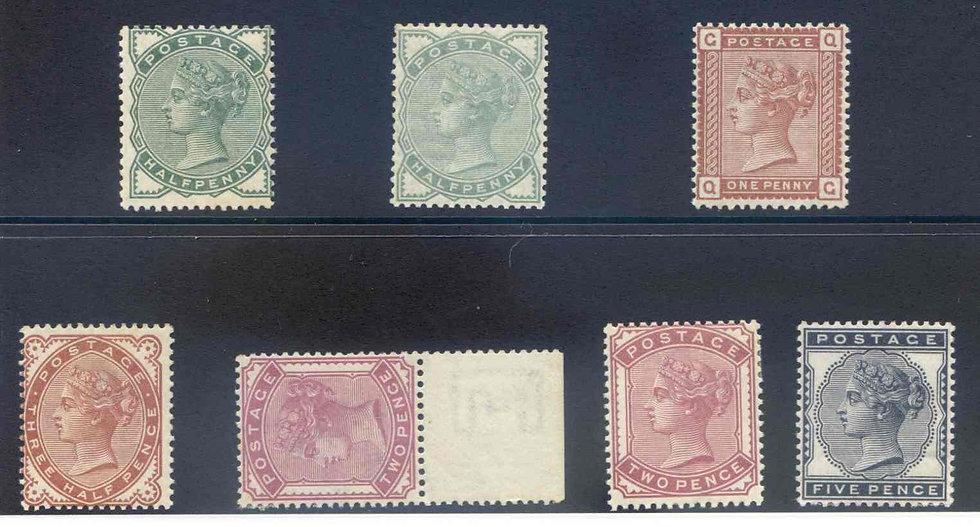 SG164/169 1880 set Mounted Mint