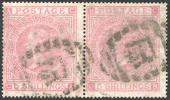 SG127 Plate 1 /- Pale Rose Fine Used Pair